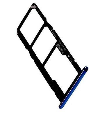 Držák (šuplík) SIM Huawei Y5 (2018) modrá