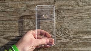 Pouzdro Back Case Ultra Slim 0,3mm Samsung A202 Galaxy A20e transparentní