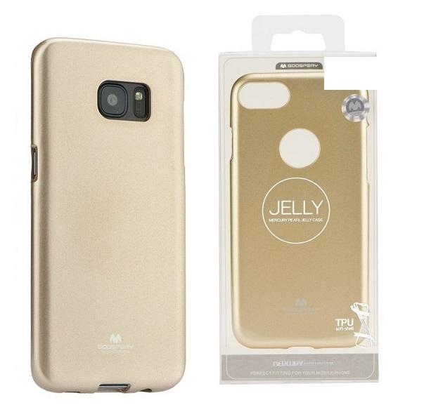 Pouzdro MERCURY Jelly Case Huawei Y7 (2019) zlatá