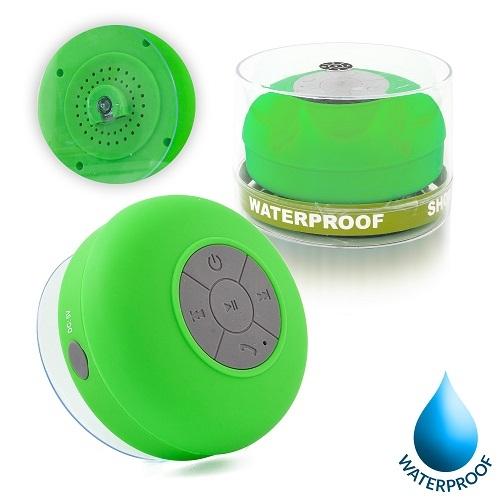 Mini reproduktor Bluetooth, voděodolný, barva zelená