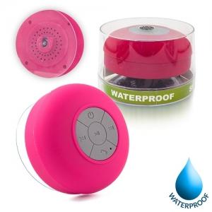 Mini reproduktor Bluetooth, voděodolný, barva růžová