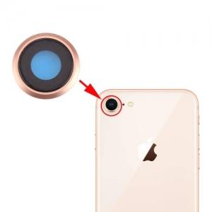 Sklíčko zadní kamery iPhone 8 (4,7) + rámeček zlatá