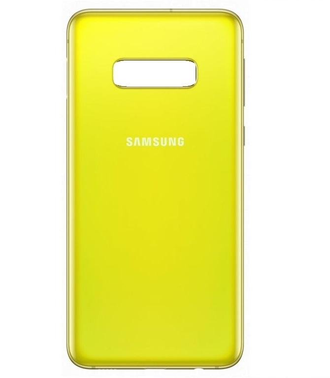 Samsung G970 Galaxy S10e kryt baterie + lepítka žlutá