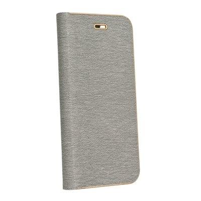 Pouzdro LUNA Book Huawei Y6 (2018), Y6 Prime (2018), barva šedá