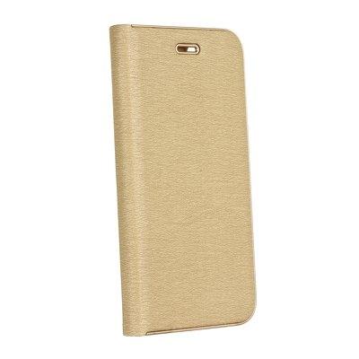 Pouzdro LUNA Book Huawei Y6 (2019), Y6 PRO (2019), barva zlatá