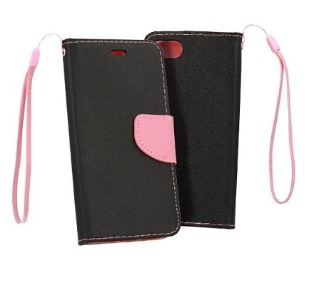 Pouzdro FANCY Diary TelOne Huawei P30 Lite barva černá/růžová