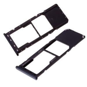 Držák (šuplík) SIM Samsung A750 Galaxy A7 (2018) black