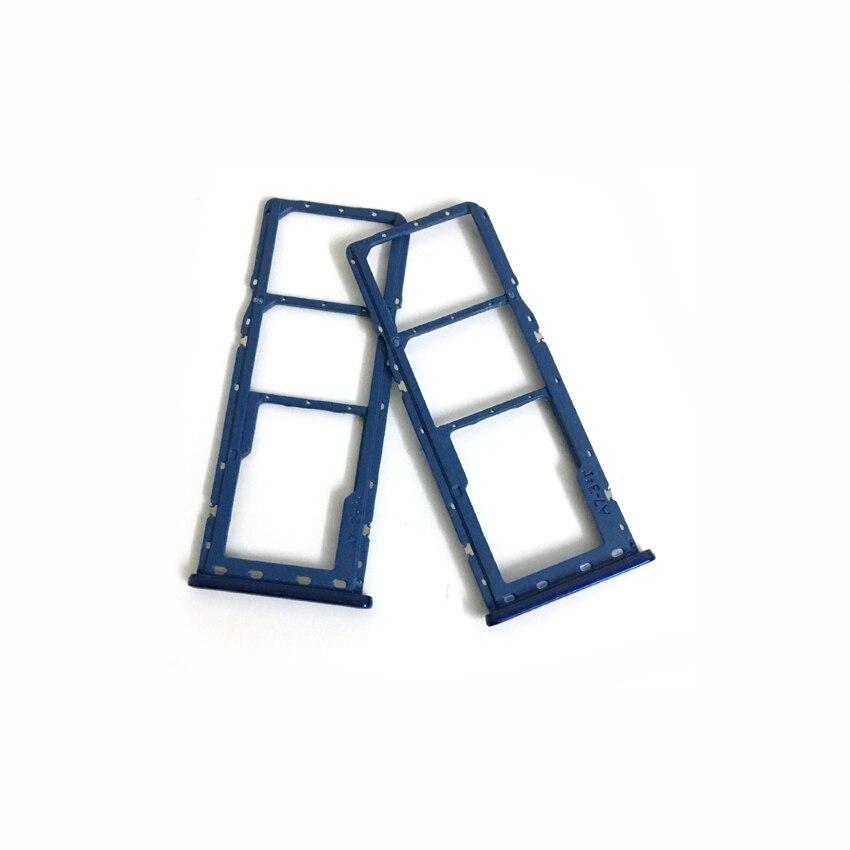 Držák (šuplík) SIM Samsung A750 Galaxy A7 (2018) blue