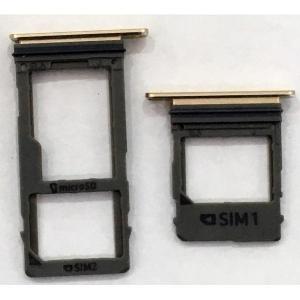 Držák (šuplík) SIM Samsung A530 Galaxy A8 (2018) gold