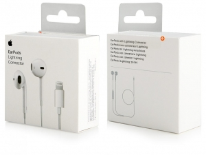 iPhone MMTN2ZM/A lightning konektor EarPods (blistr) bílá originál