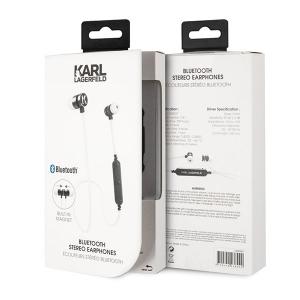 Bluetooth headset KARL LAGERFELD CGBTE07 barva bílá