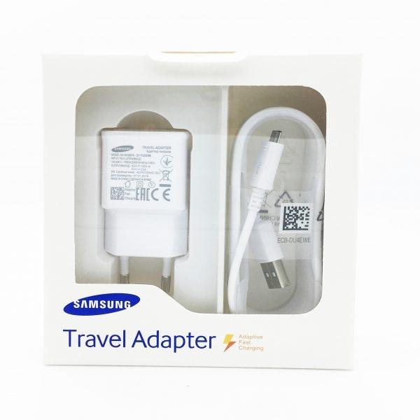 Nabíječ Samsung EP-TA20EWE + kabel ECB-DEWE - micro USB 2A (BLISTR) bílá - white BOX