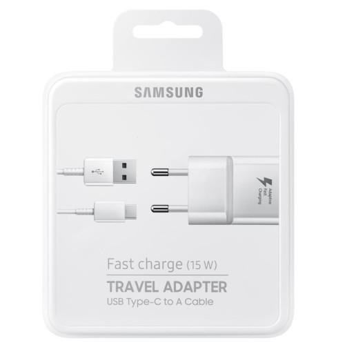 Nabíječ Samsung EP-TA20EWE + kabel EP-DN930CWE - Typ C 2A (BLISTR) bílá - white BOX