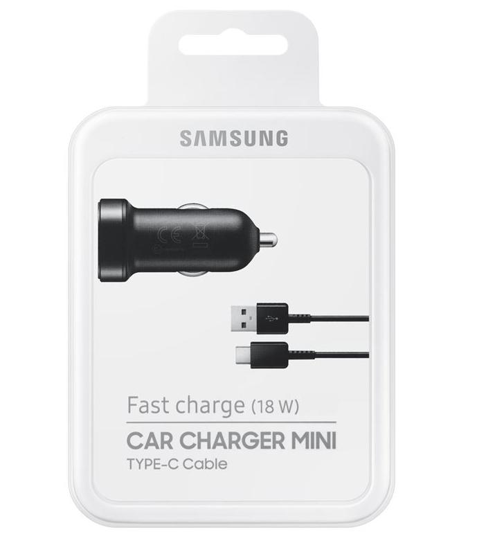 Auto nabíječ Samsung EP-LN930 + kabel DG950 TYP-C 2A (BLISTR) černá