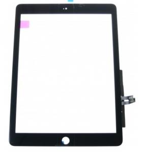 Dotyková deska Apple iPad 6 (9.7) 2018 černá originál + tlačítko HOME + Lepítka
