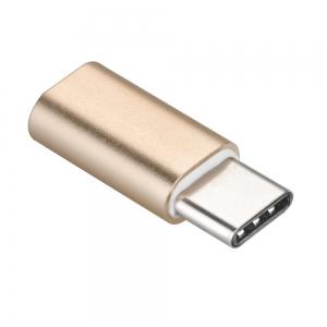 Redukce iPhone Lightning / USB Typ C barva zlatá
