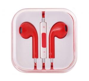 Hands Free MEGA Bass 3,5 mm jack, barva červená