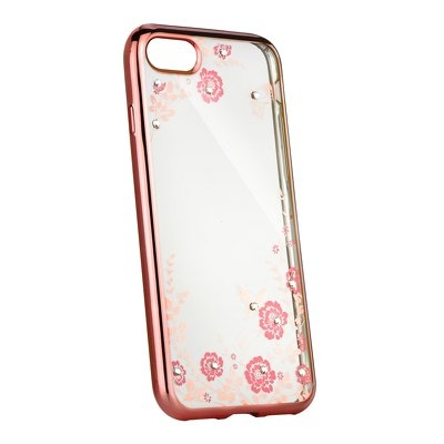 Pouzdro Back Case FLOWER Huawei P Smart 2019, barva rose gold
