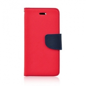 Pouzdro FANCY Diary Huawei Y5 II, Y6 II compact barva červená/modrá