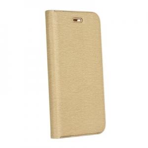 Pouzdro LUNA Book iPhone XR (6,1), barva zlatá