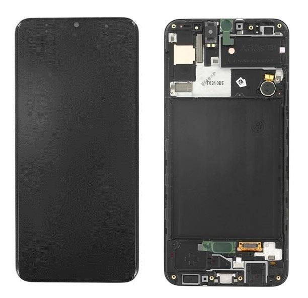 Dotyková deska Samsung A307 Galaxy A30s + LCD black Service Pack - originál