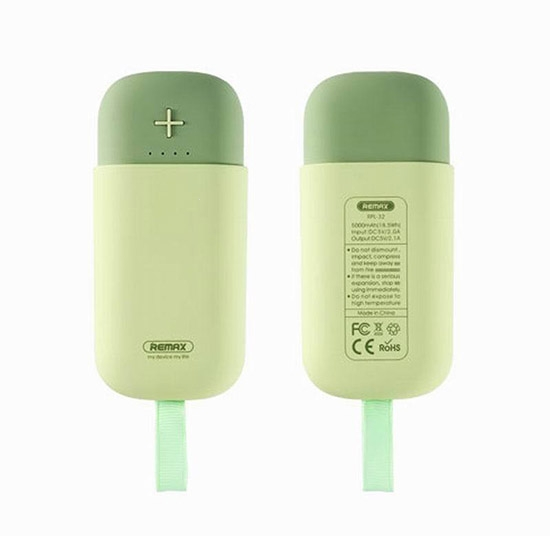 Externí baterie POWER BANK REMAX Camaroon RPL-32, 5.000mAh zelená