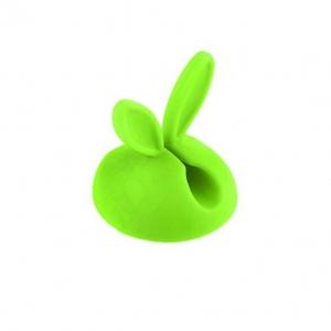 Organizér pro datový kabel, HF - zajíc barva zelená
