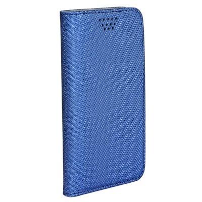Pouzdro Book Smart universal 4,0´´-4,5´´ modrá
