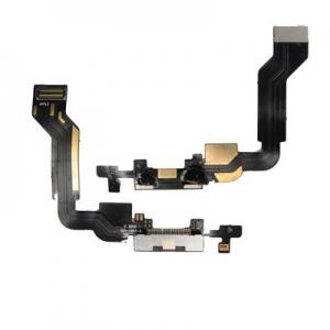 Flex iPhone 4 s dobíjecím konektorem černý