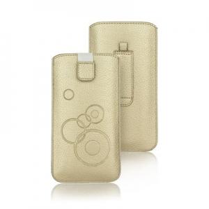 Pouzdro DEKO iPhone X, XS (5,8), P Smart, P20 Pro, S8, S9 barva zlatá