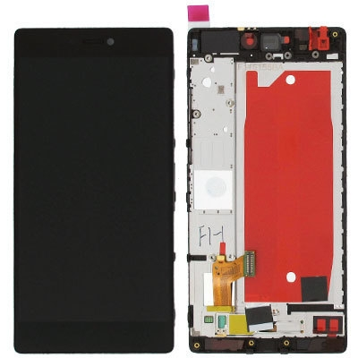 Dotyková deska Huawei P8 + LCD s rámečkem černá