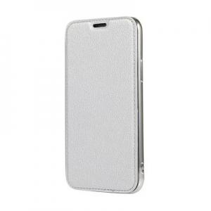 Pouzdro Electro Book iPhone XR (6,1), barva stříbrná