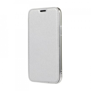 Pouzdro Electro Book iPhone X, XS (5,8), barva stříbrná