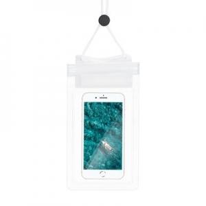 Pouzdro voděodolné Zipper + šňůrka na krk barva transparentní