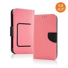 Pouzdro Book STICK FANCY universal 4,7 - 5,3 růžová/černá