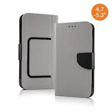 Pouzdro Book STICK FANCY universal 5,3 - 5,8 šedá/černá
