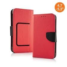Pouzdro Book STICK FANCY universal 5,8 - 6,3 červená/modrá