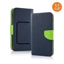 Pouzdro Book STICK FANCY universal 5,8 - 6,3 modrá/limetka