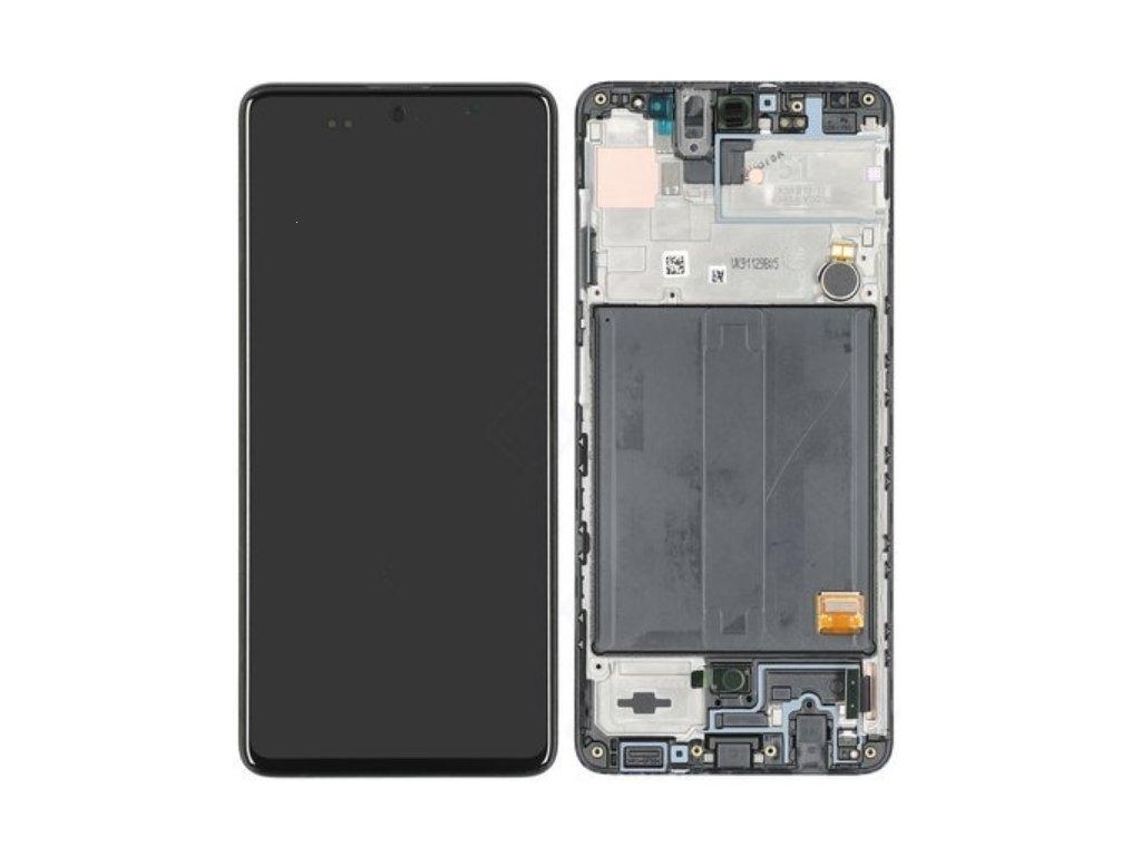 Dotyková deska Samsung A515 Galaxy A51 + LCD + rámeček black Service Pack - originál