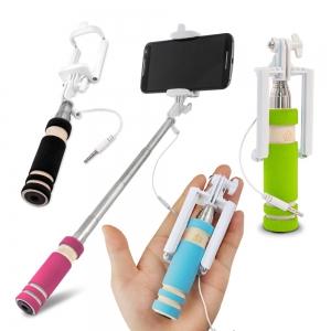 Selfie držák Mini Stick max. 60cm, 3,5mm jack MIX barev