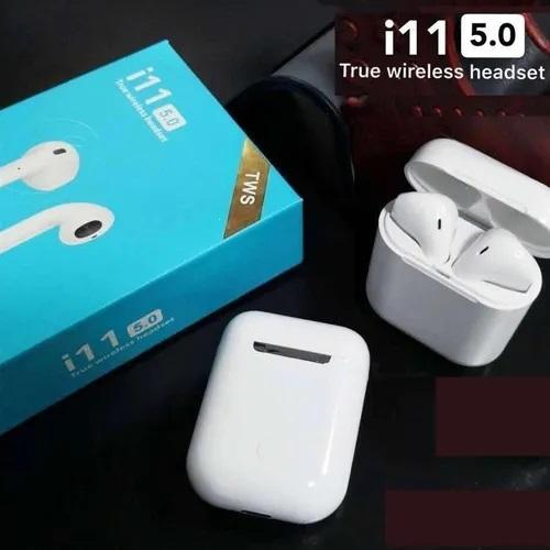Bluetooth headset TWS i11 5.0 barva bílá