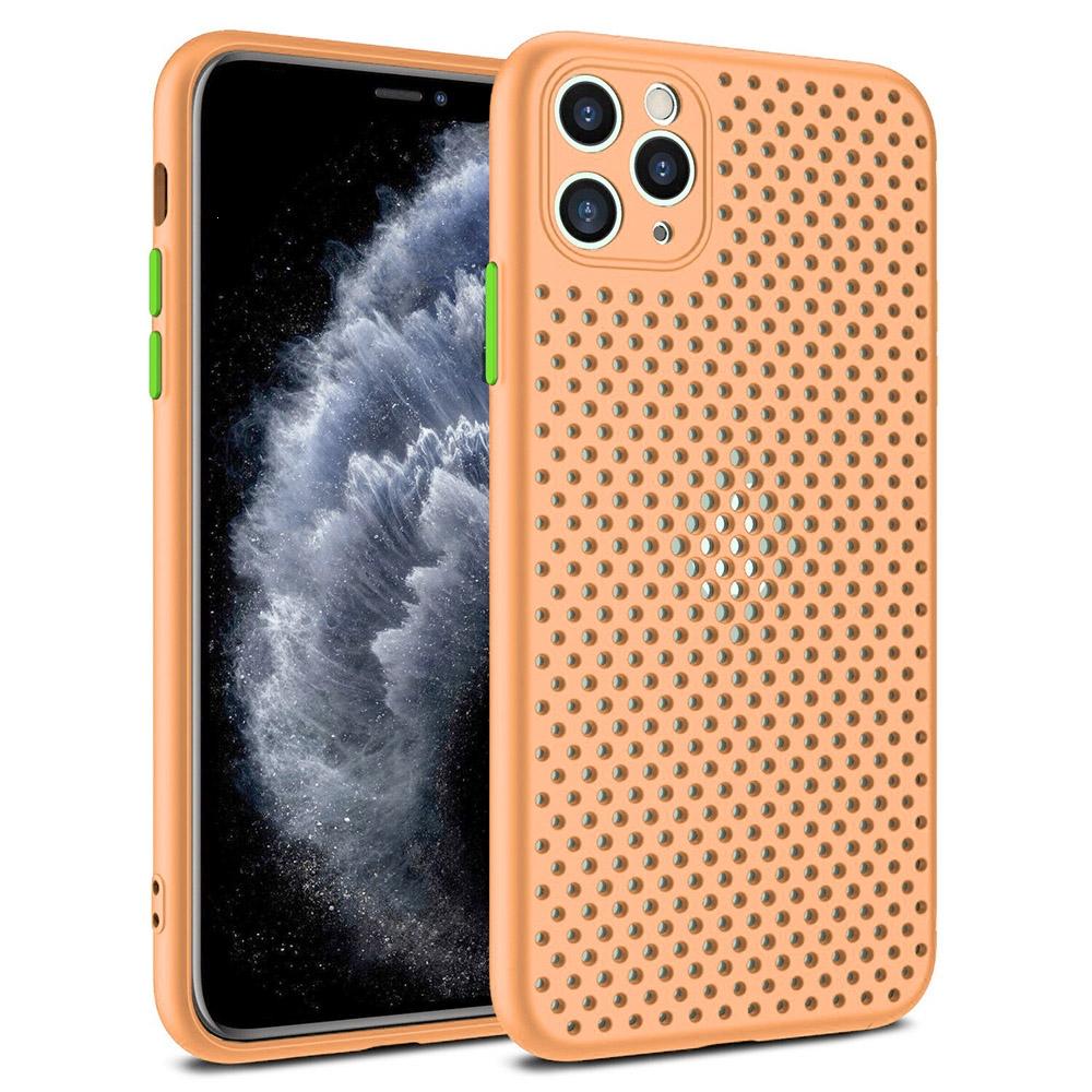 Pouzdro Breath Case Samsung A715 Galaxy A71, barva oranžová