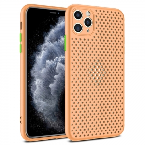 Pouzdro Breath Case Samsung G985 Galaxy S20 Plus, barva oranžová