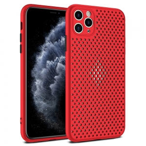Pouzdro Breath Case Huawei P40 Pro, barva červená