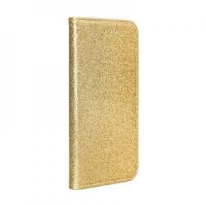 Pouzdro Shining Book Huawei Y7 (2019), barva zlatá