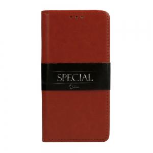 Pouzdro Book Leather Special Samsung G955 Galaxy S8 Plus, barva hnědá