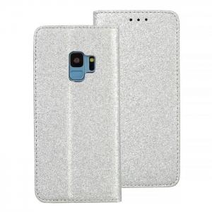 Pouzdro Shining Book Samsung G965 Galaxy S9 Plus, barva stříbrná