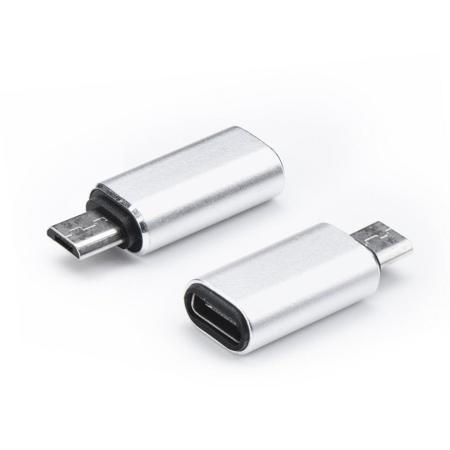 Redukce TYP-C / micro USB barva stříbrná