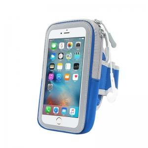 "Pouzdro na ruku Full Close Zipper velikost 5.0"" - 6"" barva modrá"
