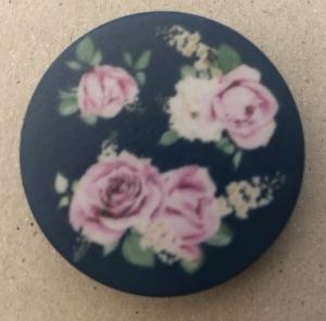 Držák PopSocket - barva zelená, růže